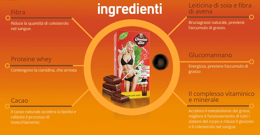 elenco ingredienti chocolate slim